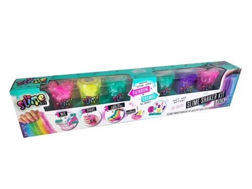 SLIME DIY-SLIME SHAKER KIT 6-PACK RAINBOW//COSMIC NEW!!!
