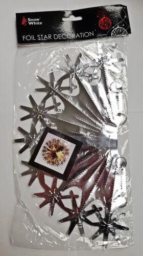 flocons de neige, Argent Or Noël Feuille Décoration Guirlandes Cloches étoiles