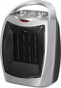 Ceramic Space Heater 750W/1500W Adjustable Thermostat Utopia Home