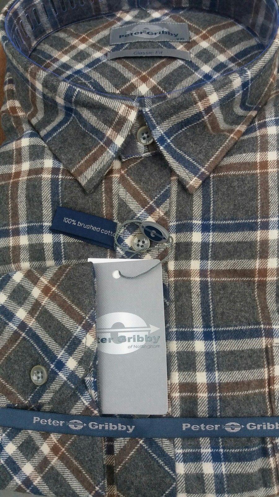 Peter gribby Toffee doppio spazzolato Camicia a maniche lunghe P18224 2XL3XL4XL5XL6XL7XL8XL
