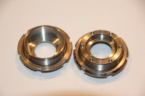 New Titanium bottom bracket cups lockrings and axle set 127.5//70mm square taper