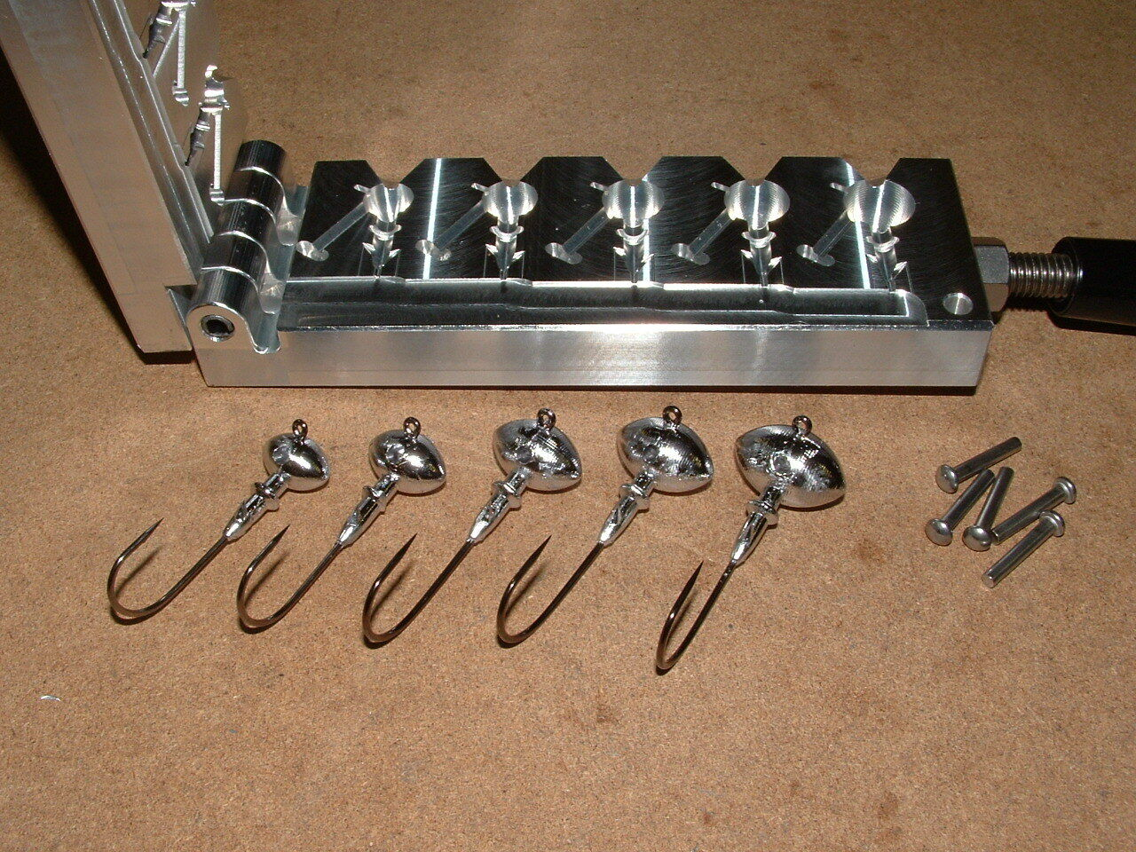 Freshwater Football -2  mold 3 8, 1 2, 5 8, 3 4, 1oz CNC Aluminum