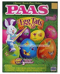 PAAS-74pc-Easter-Egg-EGG-TATS-Fun-Expressions-DECORATING-KIT-Yellow-Orange-Pink