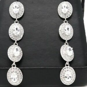 Sparkling-Oval-Moissanite-Drop-Dangle-Earring-Women-Jewelry-14K-Gold-Plated