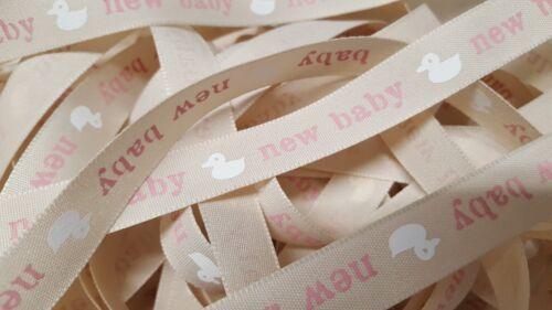 New Baby Ribbon Pink  15mm Width Berisfords Taffeta 4 Lengths