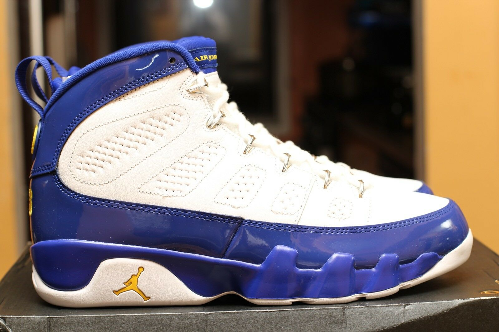 """bef4a4befd4 AIR AIR AIR JORDAN 9 RETRO """"LAKERS"""" SIZE 10.5 DS 100% AUTHENTIC ITEM ..."""