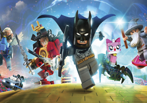 LEGO DIMENSIONS WITH BATMAN POSTER PRINT VINYL WALL STICKER VARIOUS SIZES