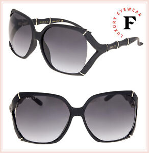 d6c1d82dbcf Image is loading GUCCI-Bamboo-GG0505S-Matte-Black-Grey-Gradient-Oversized-