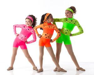 Hot-Shots-Jazz-Tap-Dance-Costume-Hip-Hop-Rose-Orange-Vert-Enfant-amp-Adulte-groupes