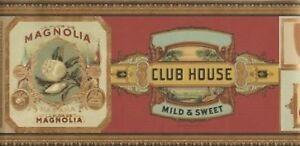 Wallpaper-Border-Designer-Classic-Cuban-Cigar-Labels-Tobacco