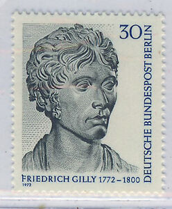 ALEMANIA-BERLIN-GERMANY-1972-MNH-SC-9N327-Friedrich-Gilly-sculptor
