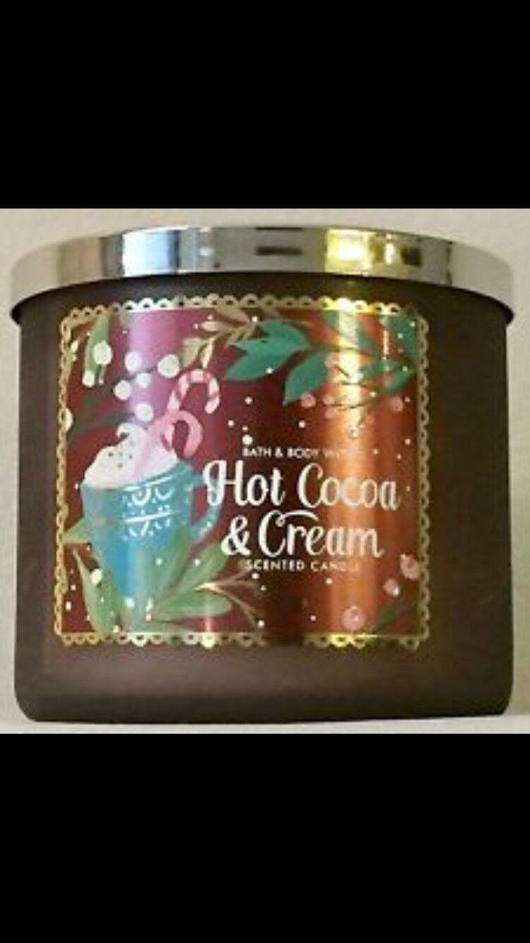 Bath & Body Works Hot Cocoa and Cream 3 Wick Candle 14.5 Oz | eBay