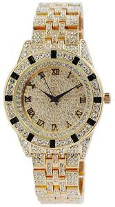 King-Star-Herrenuhr-Gold-Strass-Analog-Metall-Quarz-Armbanduhr-X-2800056-002