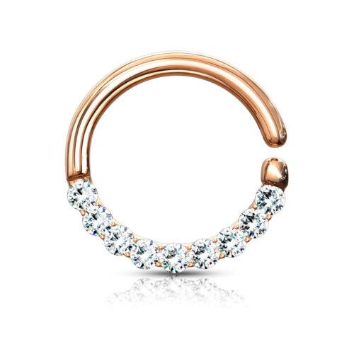 "16GA 5//16/"" Half Circle Bendable Hoop Ringsfor Septum Ear Cartilage Daith N124"