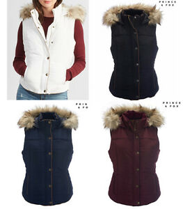 NWT-AEROPOSTALE-Aero-Women-Prince-amp-Fox-Fur-Trim-Hooded-Puffer-Vest-S-M-L-XL-XXL