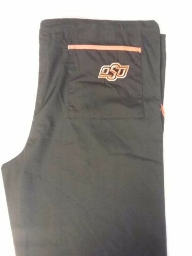 OKLAHOMA STATE UNIVERSITY scrub pants 3-pkt drawstring-waist scrub pants New!!