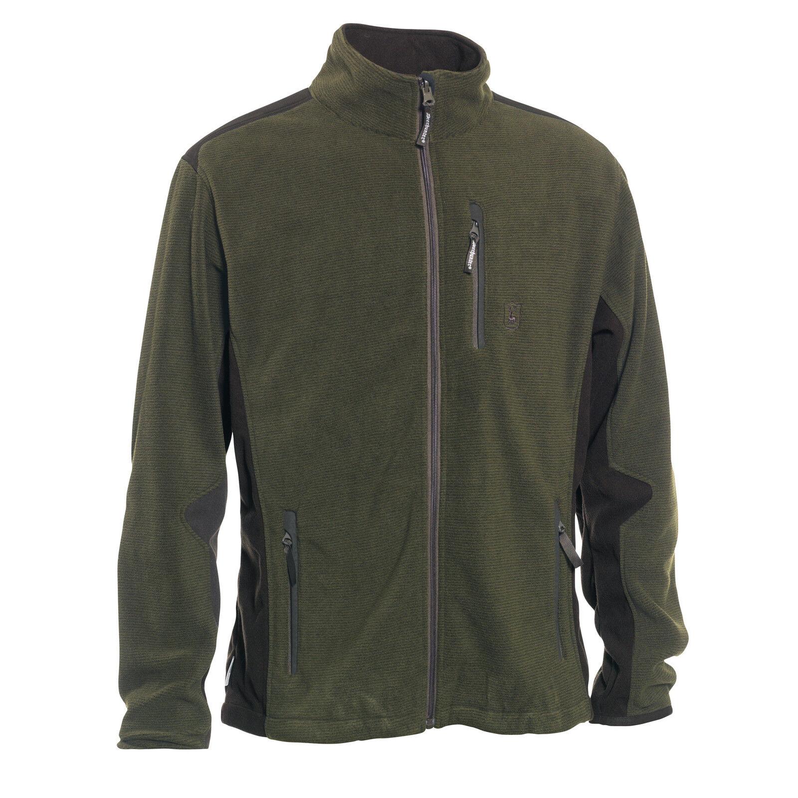 DEERHUNTER 5721 MUFLON Fleece Jacke einZippbar in 5820 5822, 376-Art groen Gr-desk;-655533n;
