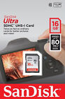 SanDisk 16GB Ultra SD SDHC 80MBs Class10 UHS-I Memory Flash Card 16G HD Video AU