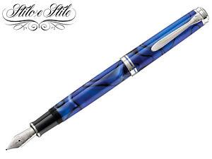 100% Vrai Pelikan M805 Blue Dunes | Penna Stilografica Special Edition 800 | Fountain Pen Pour Effacer L'Ennui Et éTancher La Soif