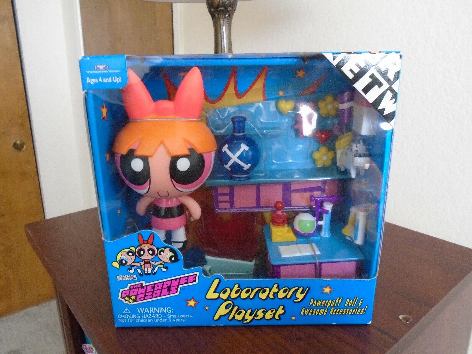 NEW Cartoon Network PowerPuff Girls Laboratory Playset BLOSSOM - NRFB MIP, 1999