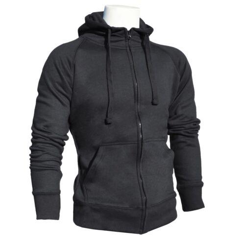 Mens Zip Up Hoodie Sweatshirt Jumper Casual Gym Tracksuit Top Jacket Boys Fleece