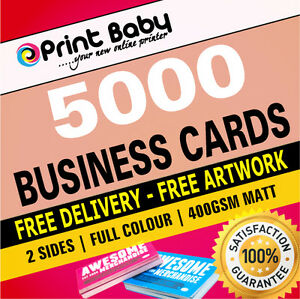 5000 business cards double sided 400gsm matt free artwork ebay image is loading 5000 business cards double sided 400gsm matt free reheart Gallery