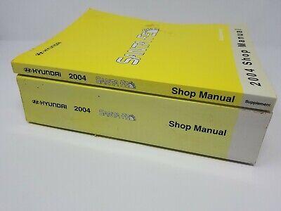 2004 OEM Shop Repair Manual HYUNDAI SANTA FE & Supplement Book Factory  Repairs | eBay