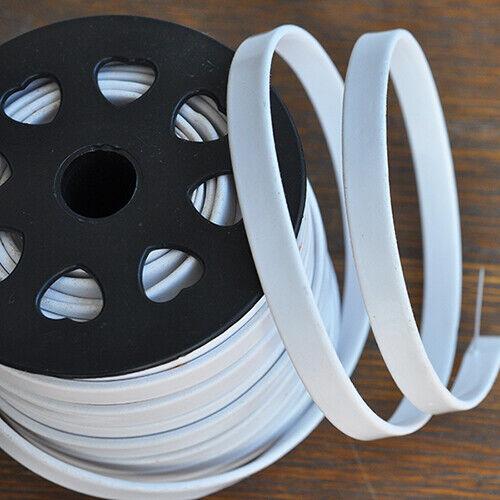 Basteln Meterware:Weißes Kunstleder Band 10 x 2 mm //1 Meter lang für Armbänder
