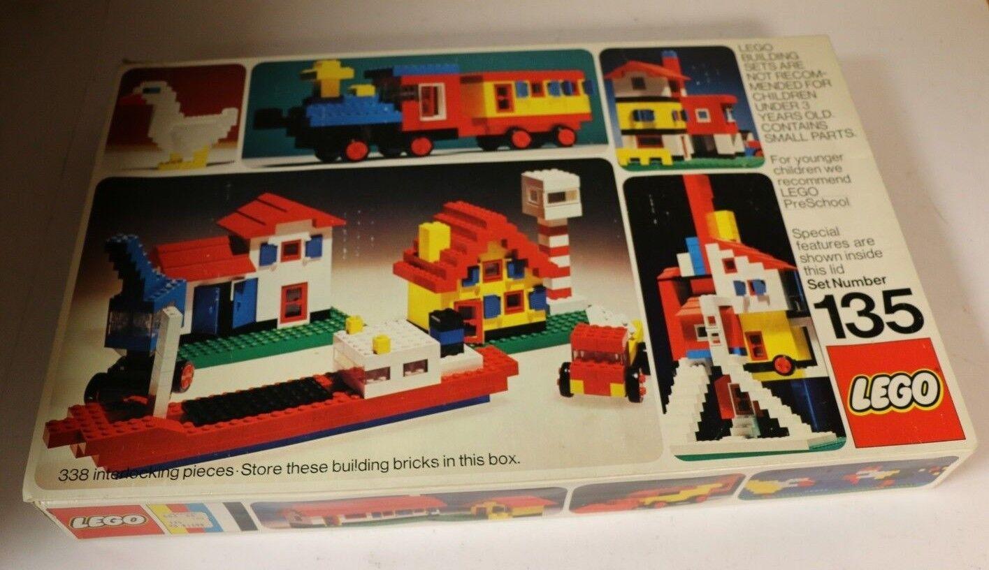 Original Lego 135 Building System Set House Circa 1974 Denmark COMPLETE