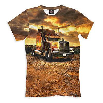 Peterbilt heavy truck vehicle t-shirt - USA motor sleeper tee