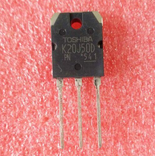 2PCS Original TK20J50D K20J50D Toshiba MOSFET 20 A 500 V TO-3P de Canal N