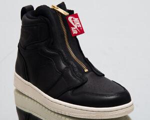 ca7a575256320 Air Jordan Wmns 1 High Zip Women New Black Sail Red Gold Sneakers ...