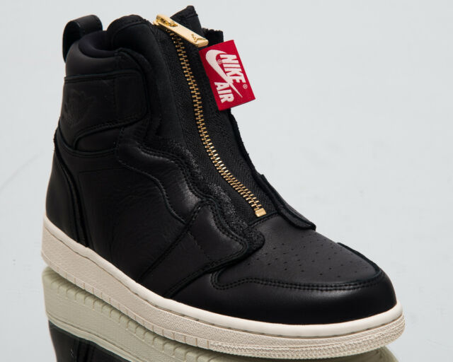 Air Jordan Wmns 1 High Zip Women New Black Sail Red Gold Sneakers AQ3742-016 4dfdd902f