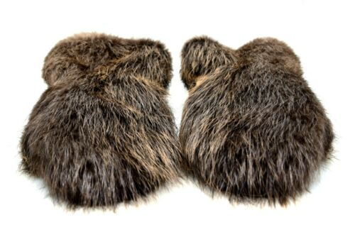 Long Men/'s Beaver fur Gauntlets