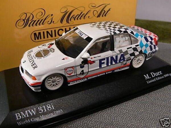 1 43 Minichamps bmw 318i World Cup monza 1993 m. duez 434932304