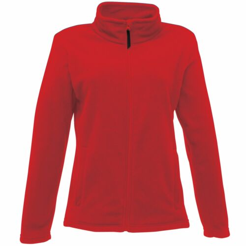 Professional Women/'s Micro Full Zip Fleece Red