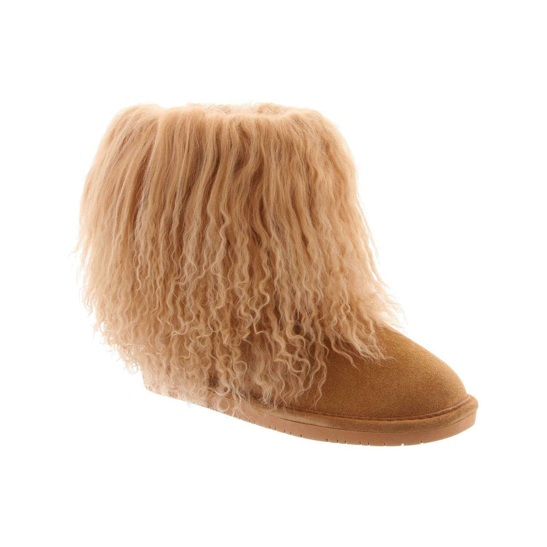 Bearpaw Boo-para mujer 7 pulgadas Furry - bota - 1854w Trigo - Furry 9 f8159b
