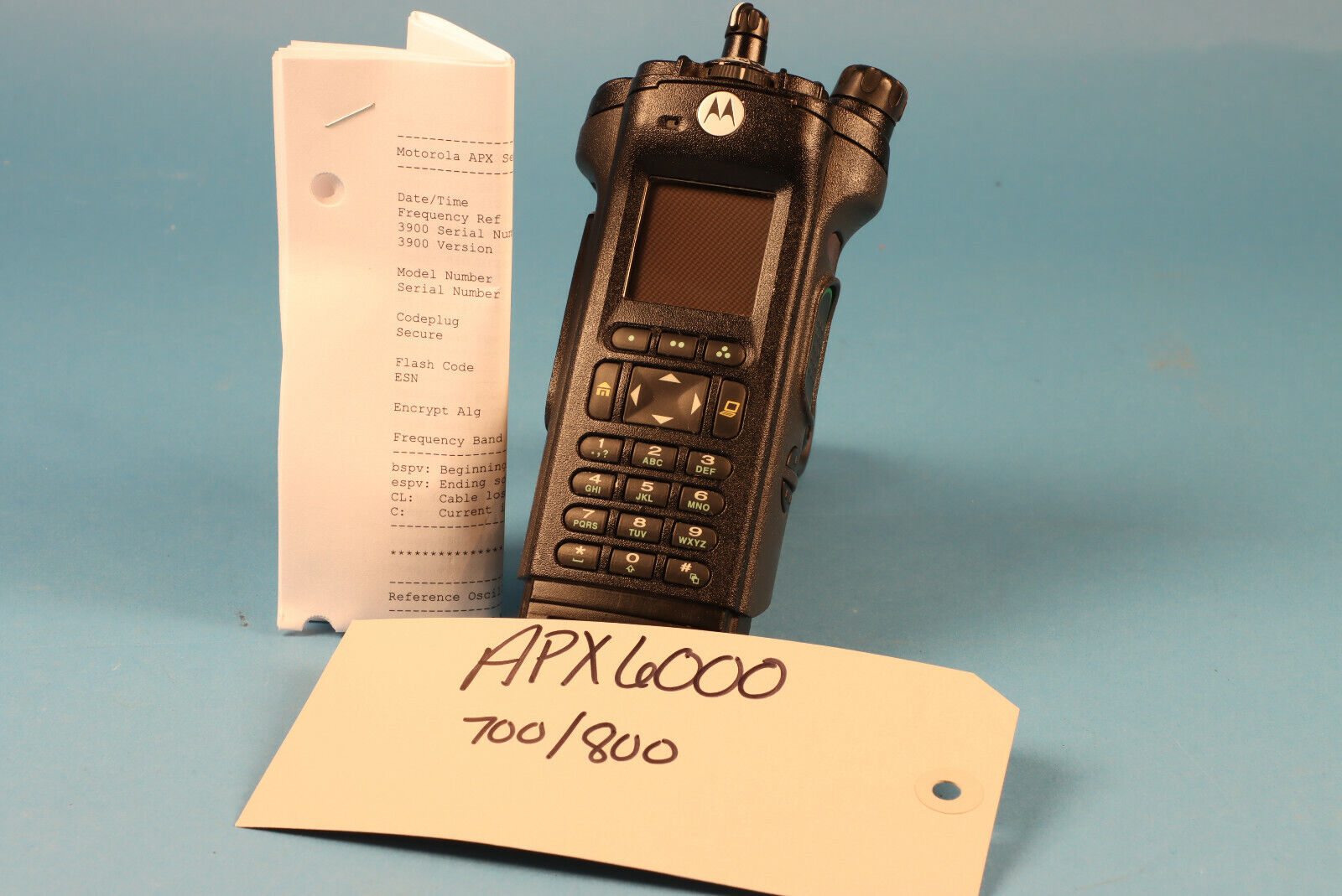 Motorola APX6000 700/800 MHz Bluetooth ADP DES AES256 RADIO ONLY *Tags. Available Now for 1985.00