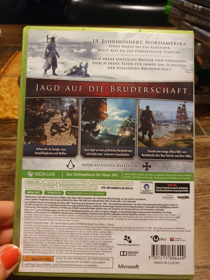 Assasins Creed Rogue, Xbox 360, action