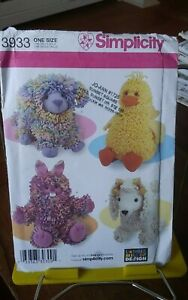 Oop-Simplicity-Longia-Miller-Simplicity-3933-loopy-toy-stuffed-bunny-poodle-NEW