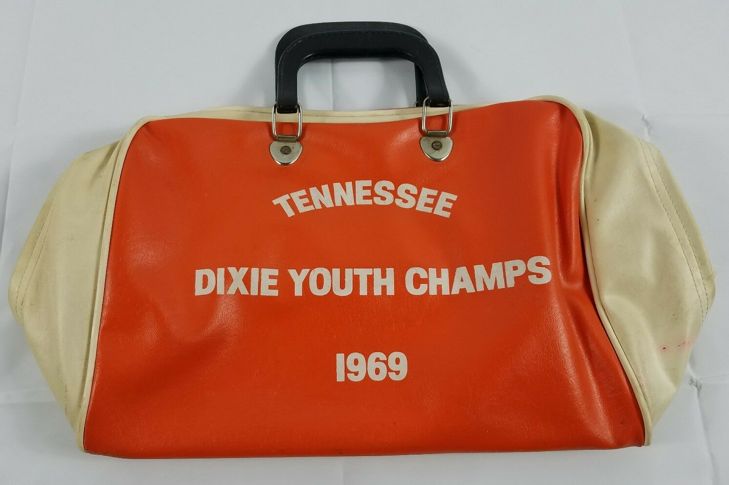 Vintage Tennessee Dixie Youth Champs 1969 Bowling Ball Duffel Bag Tennessee USA