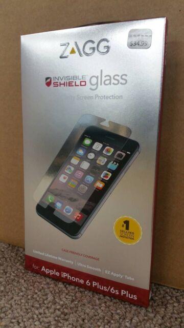 $34 ZAGG InvisibleShield Glass Apple iPhone 6 Plus 6S Friendly Screen IPPGLC-F00