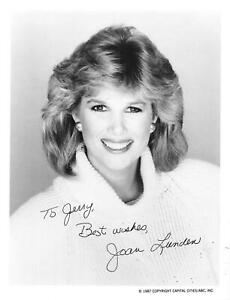 JOAN LUNDEN Signed Vintage Early 80s Photo NBC TV Host Good Morning America