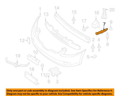 NISSAN OEM 07-12 Altima Front Bumper-Side Bracket Right 62220JA01A