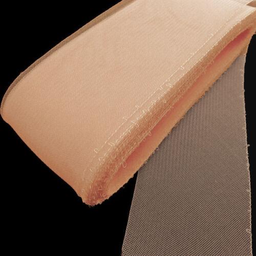 "8 cm Crinoline Trim Peach Threaded Horsehair Braid 7 yards Piece  3/"""