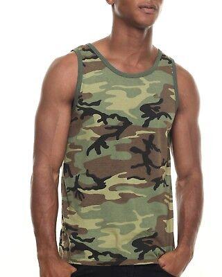 91ed9e521a315 Rothco 6702 Woodland Camo Camouflage Army Military Tank Top T-Shirt New