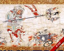 EXTERMINATION OF EVIL JAPANESE HANGING SCROLL PAINTING ART REAL CANVAS PRINT