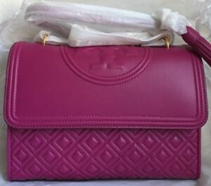 1a2e30396a85 NWT!! TORY BURCH FLEMING CONVERTIBLE SHOULDER BAG  498 Party Fuchsia ...