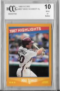 1988 Score Bccg 10 Mint 1987 Highlights Mike Schmidt Ebay