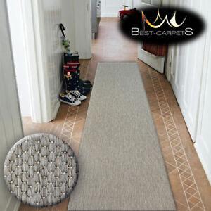 Details Sur Chemin Tapis Sizal Floorlux Taupe Uni Moderne Escaliers Largeur 70 80 100 120cm